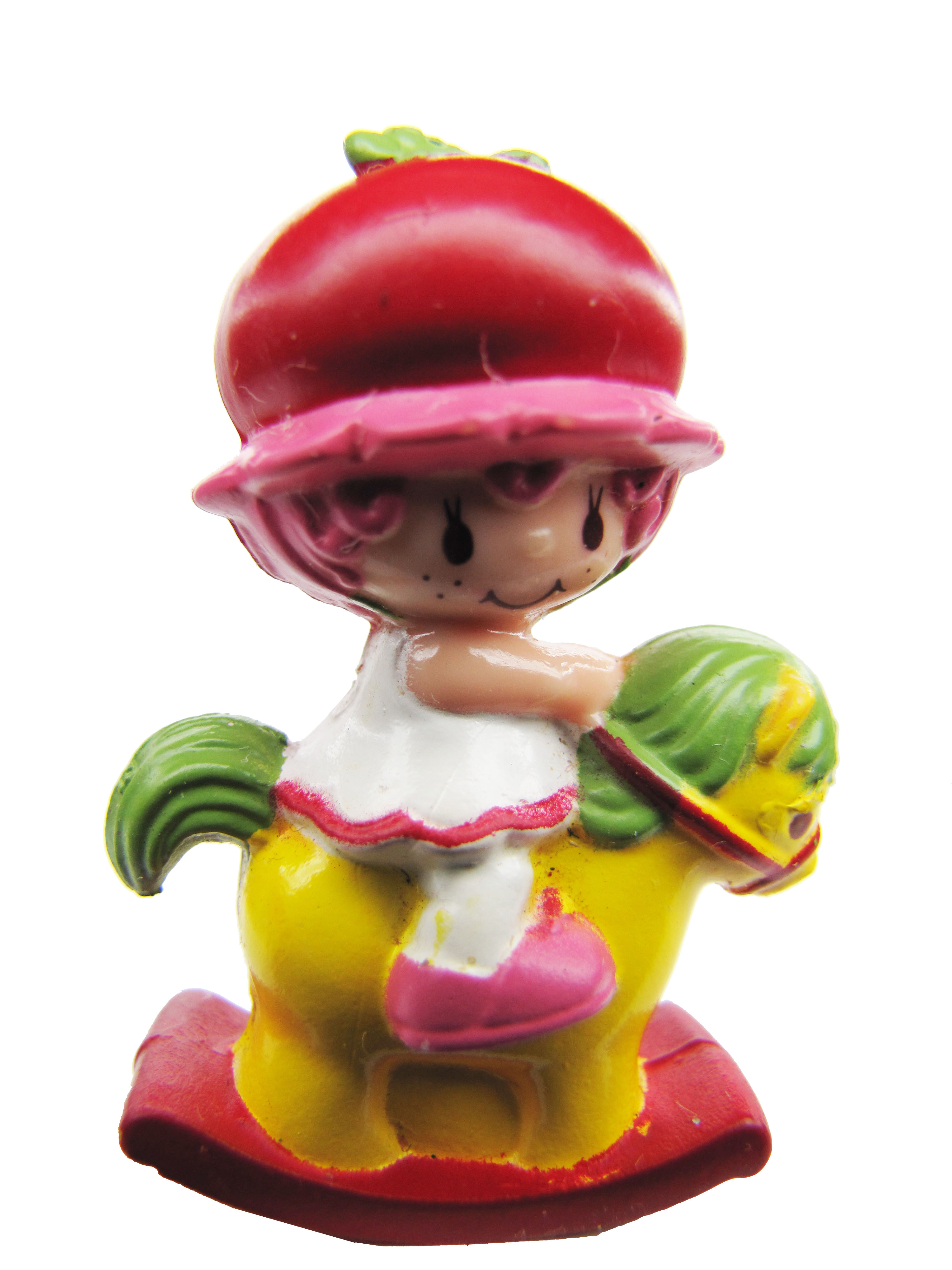 Vintage Strawberry Shortcake Cherry Cuddler on Horse